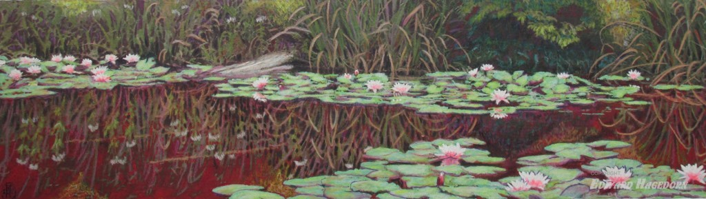 Pond Study, Red and Green